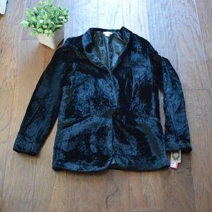 NWT Xhilaration Velvet Blazer Size Small Black